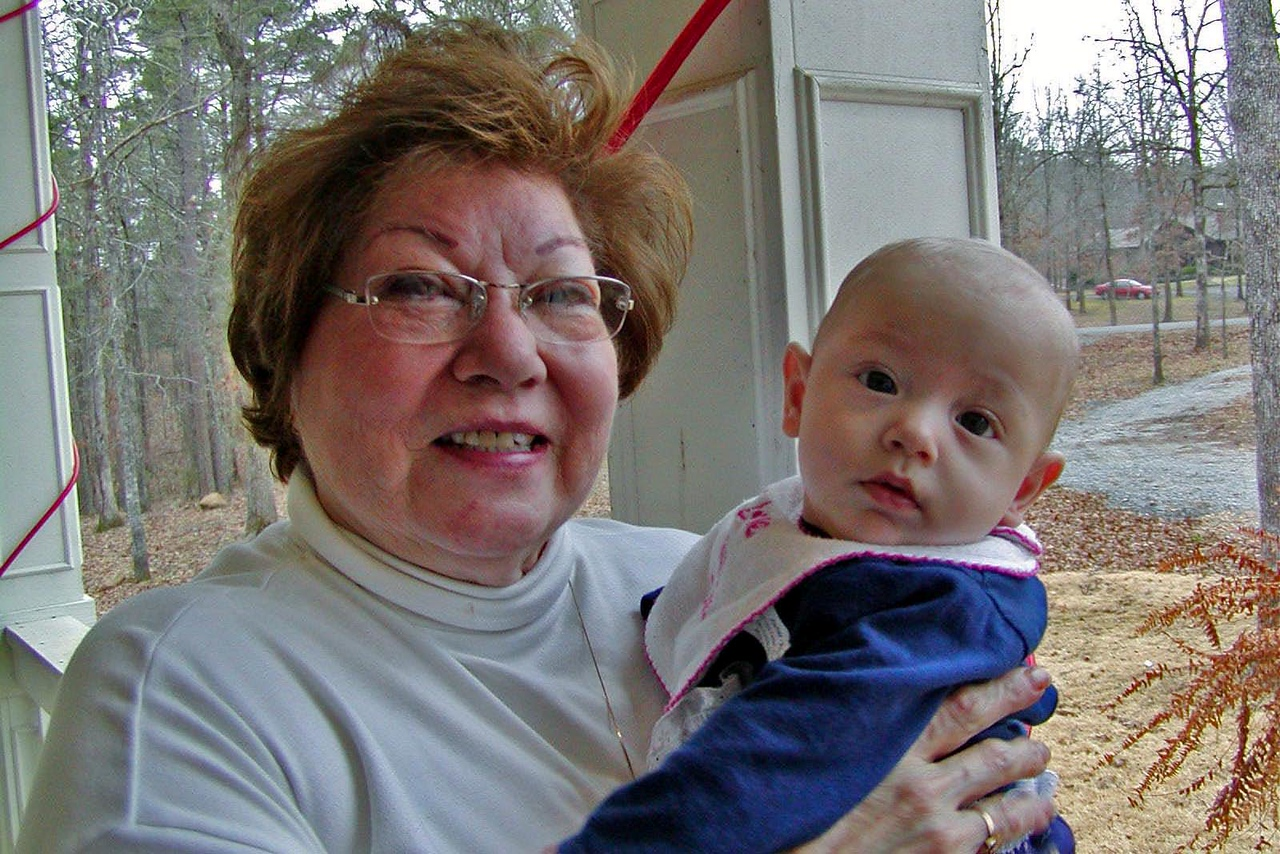 Virginia with baby Kennedy