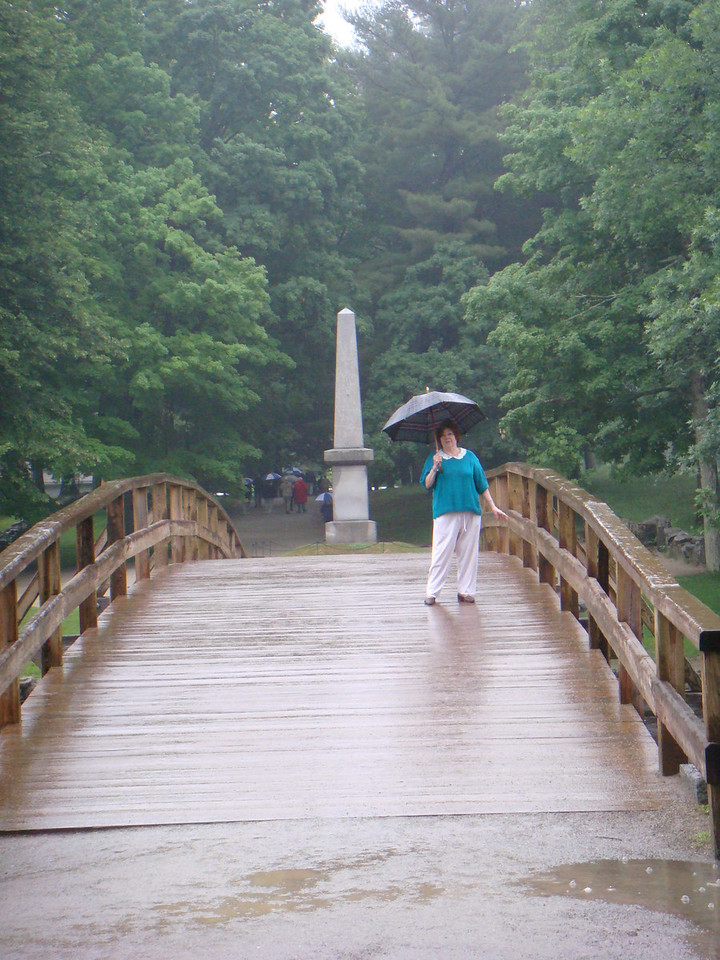 Virginia on the North Bridge ~Concord, MA~