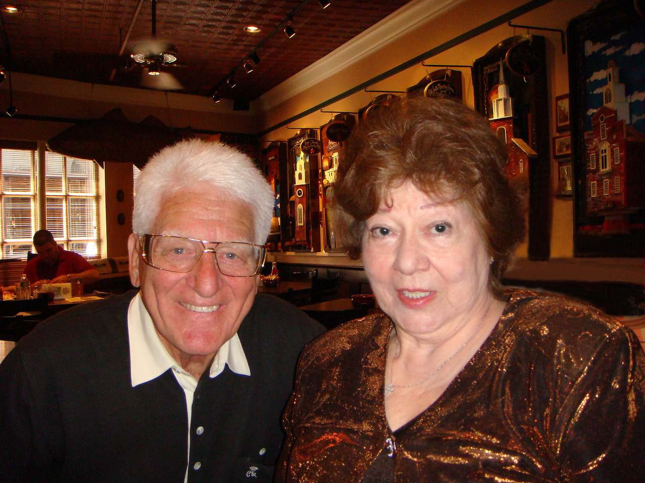 Angelo Picardi with Virginia at the Union Oyster House ~ Boston, MA