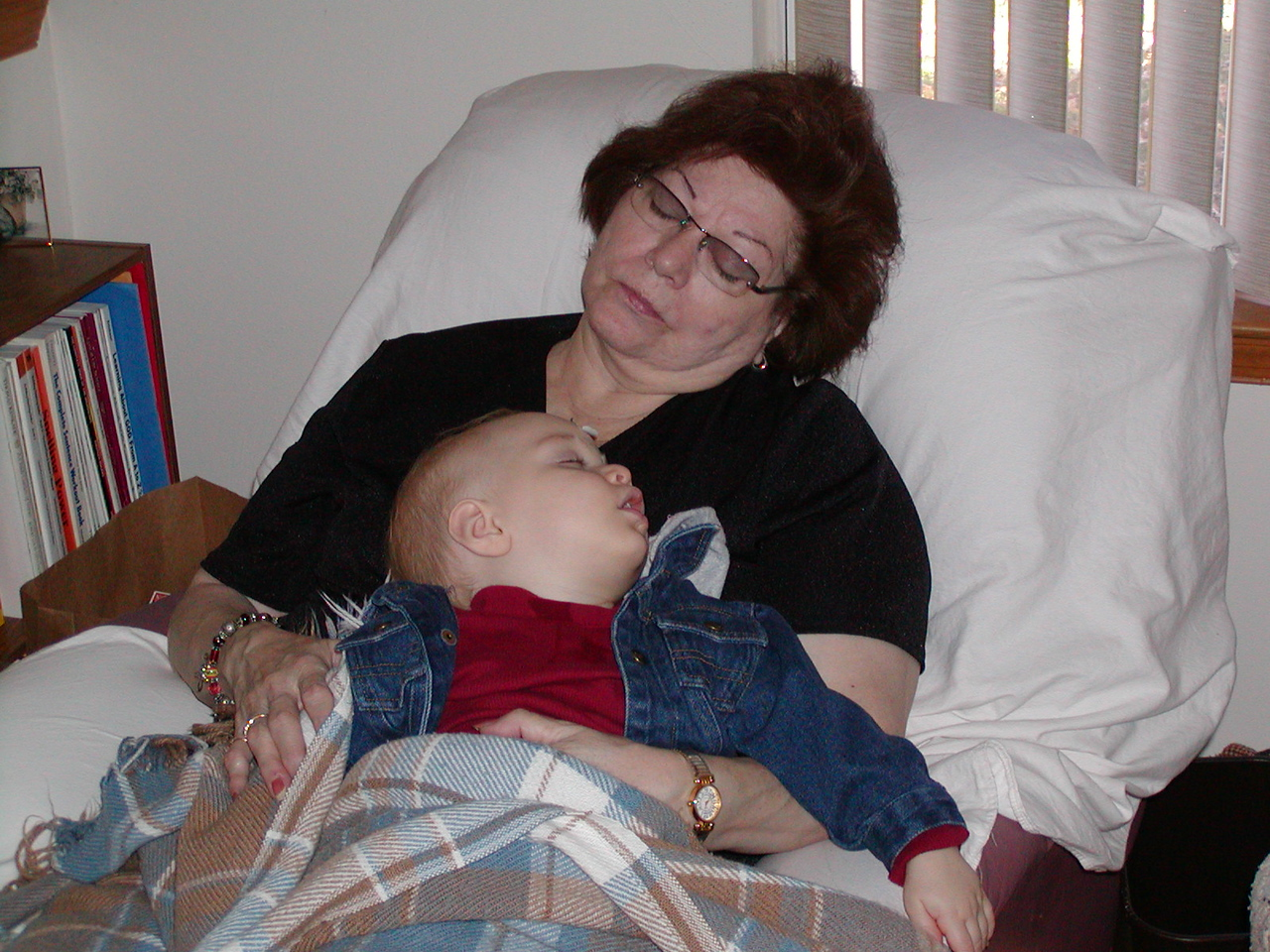 Grandma Jinny & baby Spencer ~ November 2002
