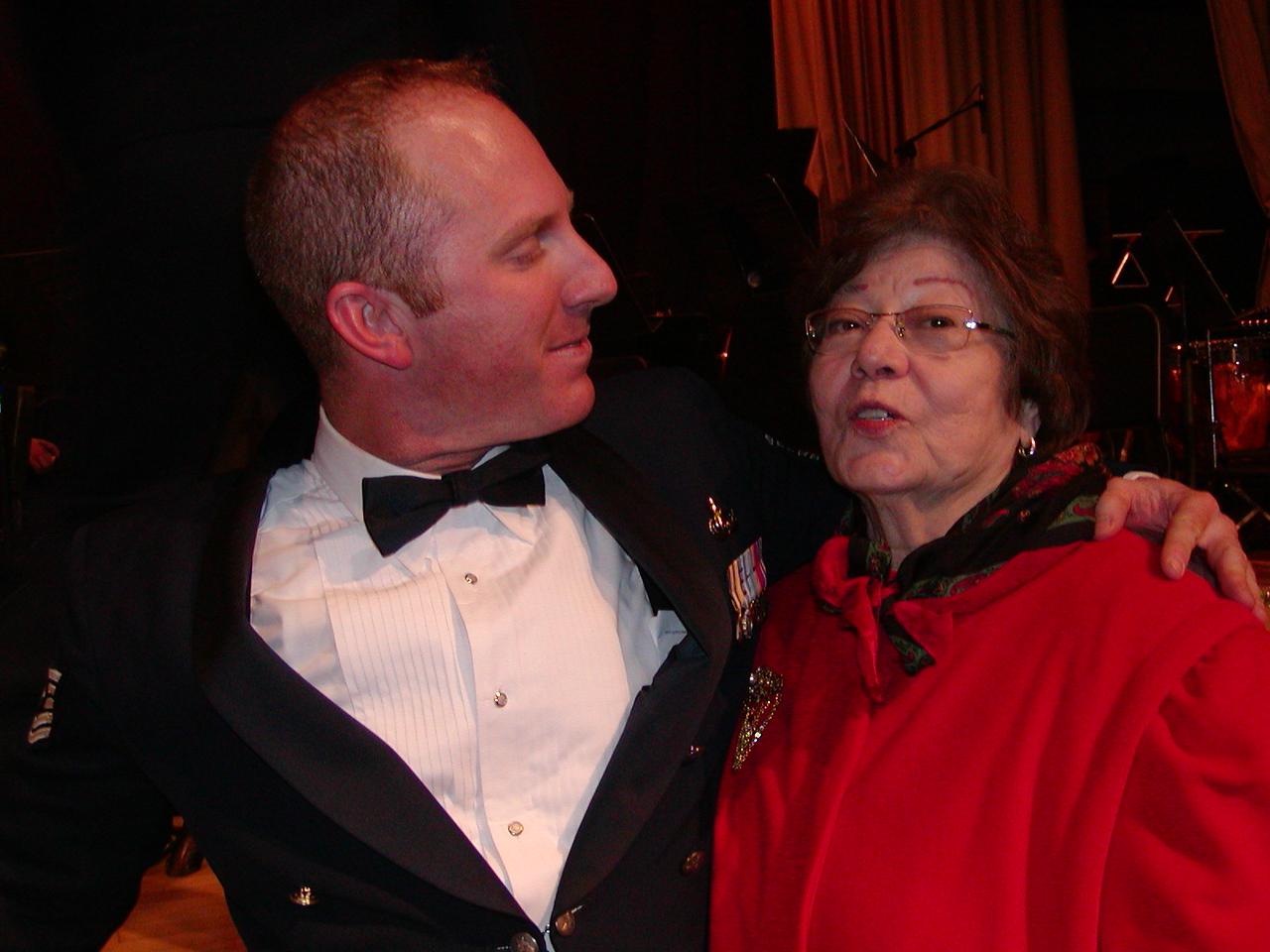 Brian Bishop with Grandma Jinny