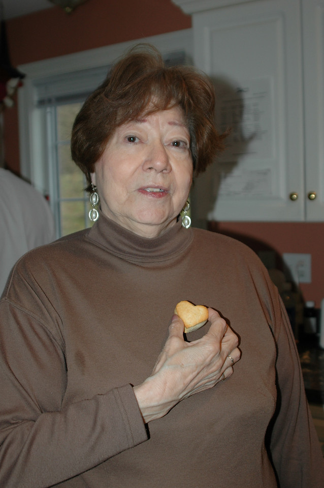 Virginia with her heart-shaped biscuit